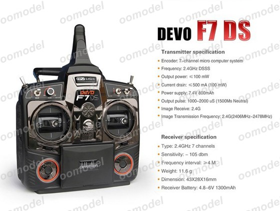 Walkera Devo F7DS radio 5