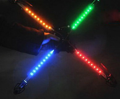 colorful aircraft led lights
