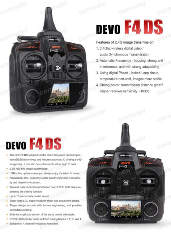 Walkera DEVO F4DS  top view