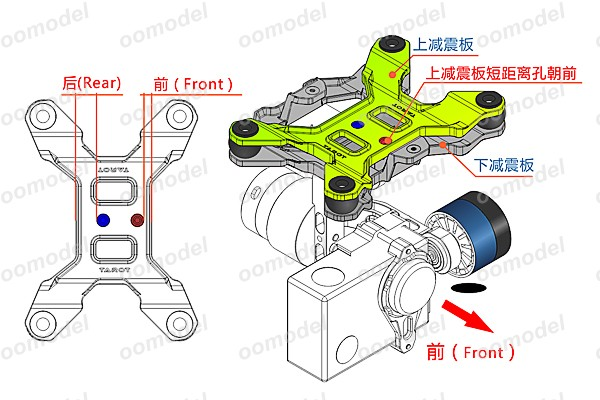 Gopro Gimbal Shock Group side view